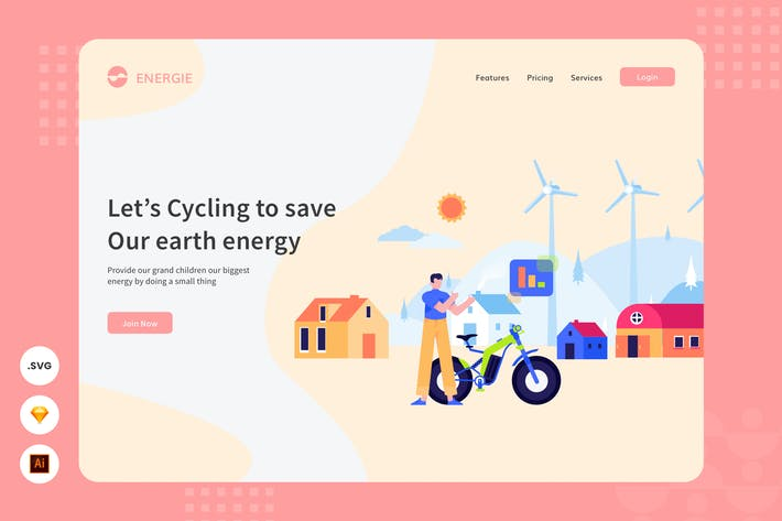 Thumbnail for Bicycling - Website Header - Illustration