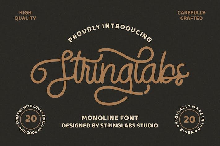 Thumbnail for Stringlabs - Monoline Retro Font