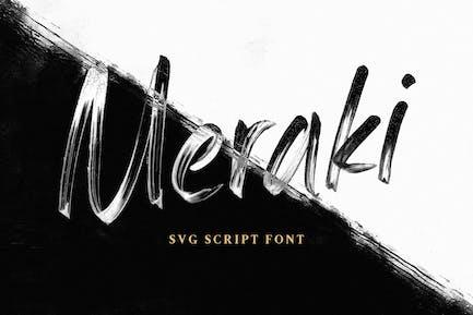 Meraki SVG Script Font