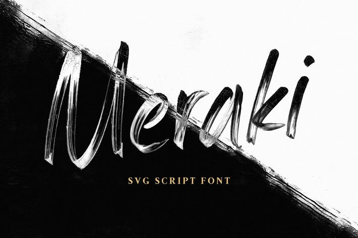 Thumbnail for Meraki SVG Script Font