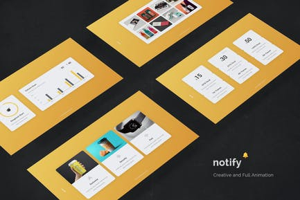 Notify - Animated & Full Animation Template (KEY)