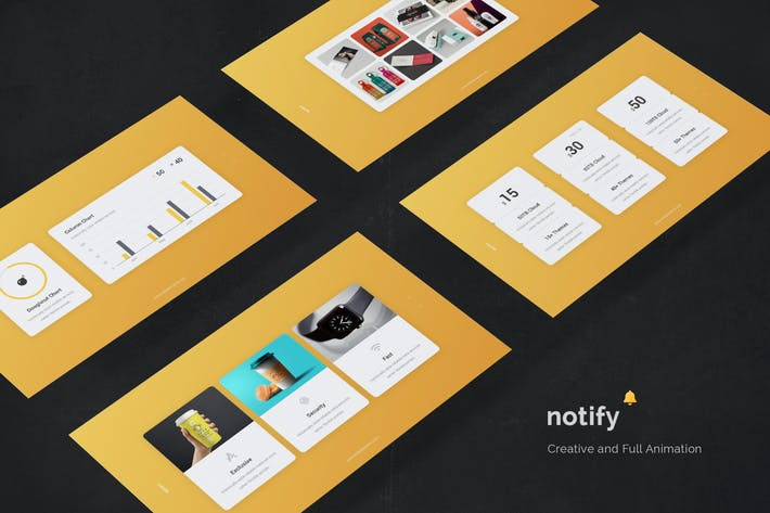 Notify - Animated & Full Animation Template (KEY)