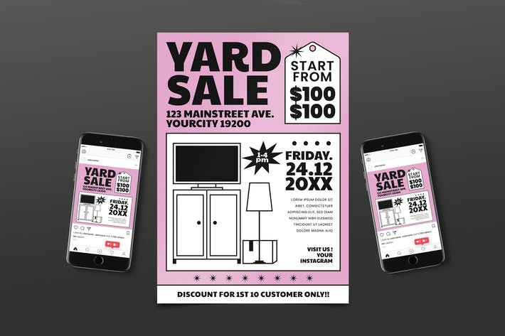 Yard Sale Flyer Pack
