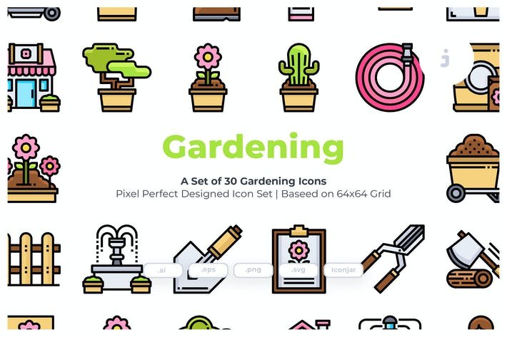 Thumbnail for 30 Gardening Icons