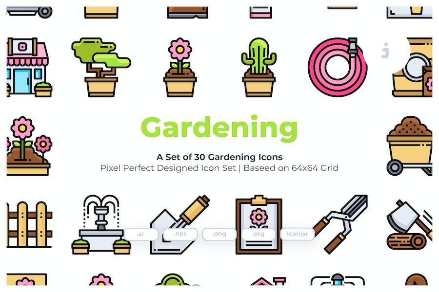 30 Gardening Icons