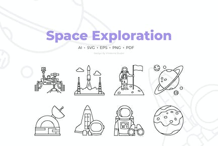 20 Space Exploration Icons