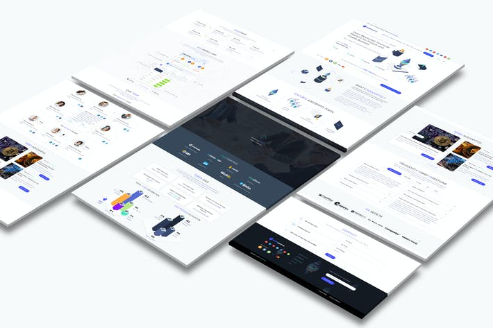 Thumbnail for Cryptocurrency and ICO Landing Page Light Pro