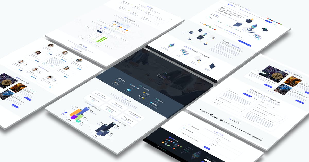 Download Cryptocurrency and ICO Landing Page Light Pro by angelbi88