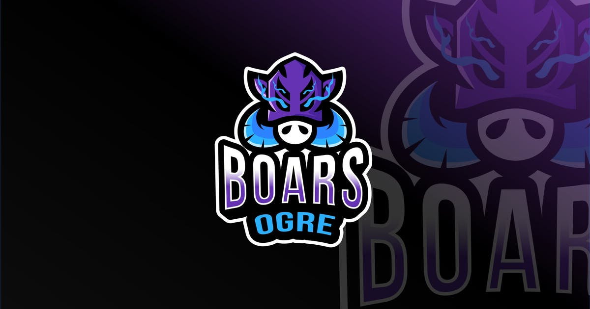 Download Boars Ogre Esport Logo Template by IanMikraz