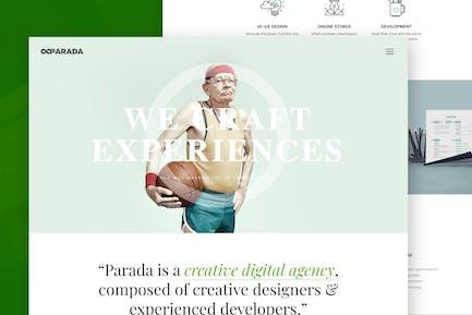 Parada   Vorlage für kreative Agentur