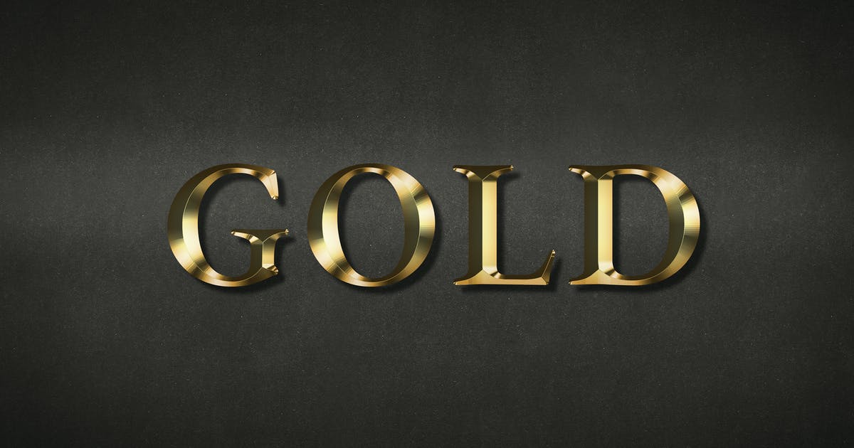 Download Gold text effect on a black background by Rawpixel