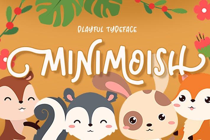 Thumbnail for Minimoish - Playful Typeface