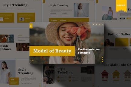 Model of Beauty   Google Slides Template
