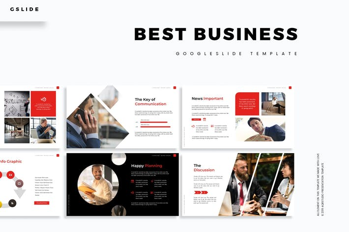 Thumbnail for Best Business - Google Slides Template