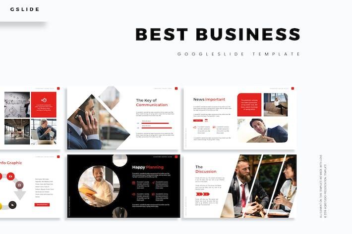 Thumbnail for Лучший бизнес - Шаблон слайдов Google