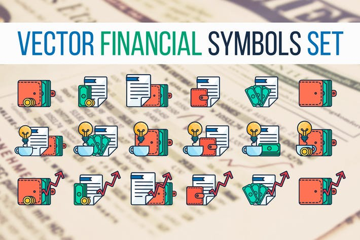 Thumbnail for Financial Symbols Set