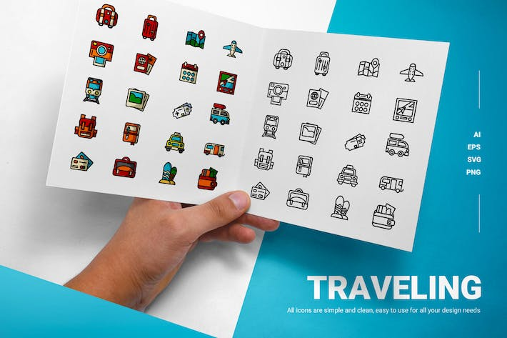 Thumbnail for Traveling - Icons