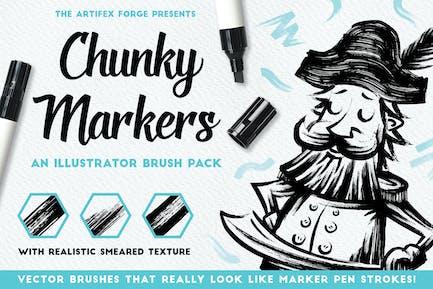 Chunky Markers - Illustrator Brushes