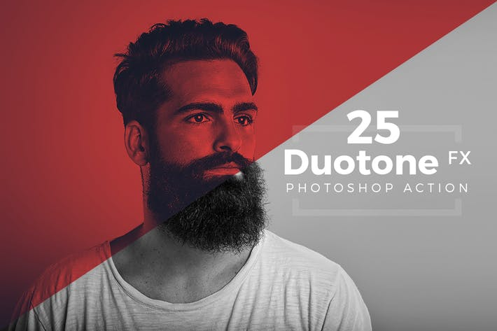 Cover Image For Duotone Photoshop Action Pack