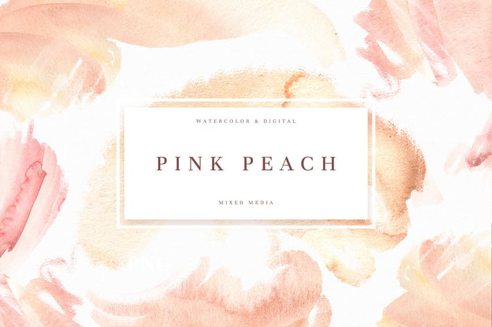 Thumbnail for Pink Peach Watercolor Texture