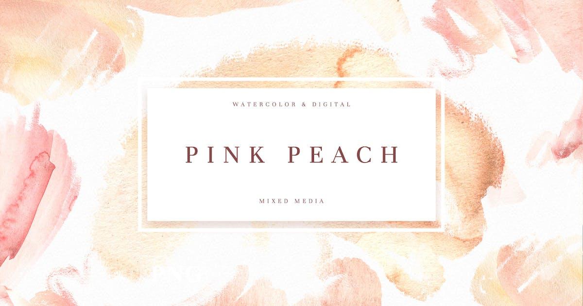 Download Pink Peach Watercolor Texture by nadispasibenko