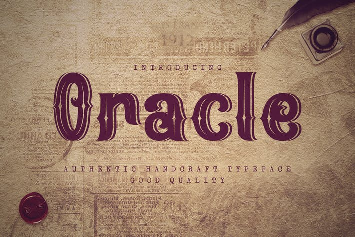Oracle - Authentic Vintage Inline Font