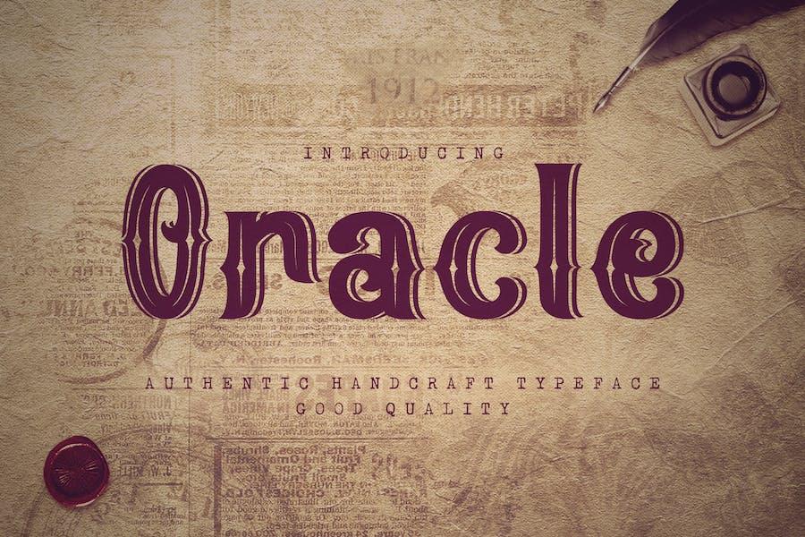 Oracle - Authentic Vintage Inline Font