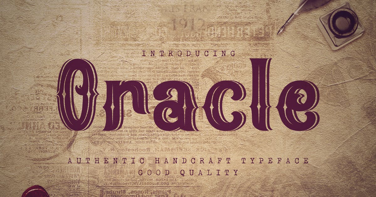 Download Oracle - Authentic Vintage Inline Font by naulicrea