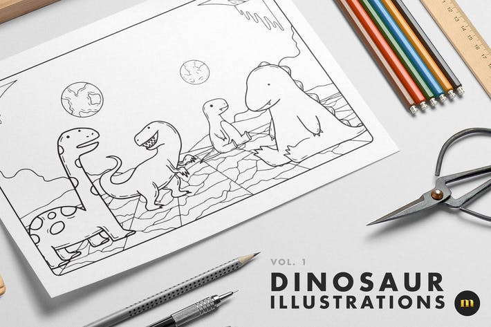 Dinosaur illustrations - vol.1