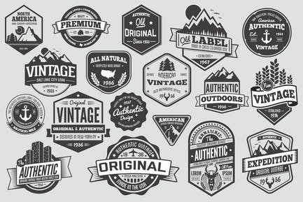 18 Vintage Badges and Logos