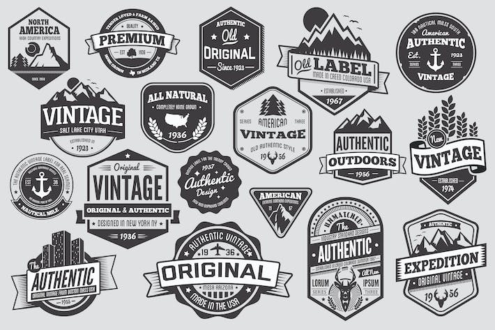 Thumbnail for 18 Vintage Badges and Logos