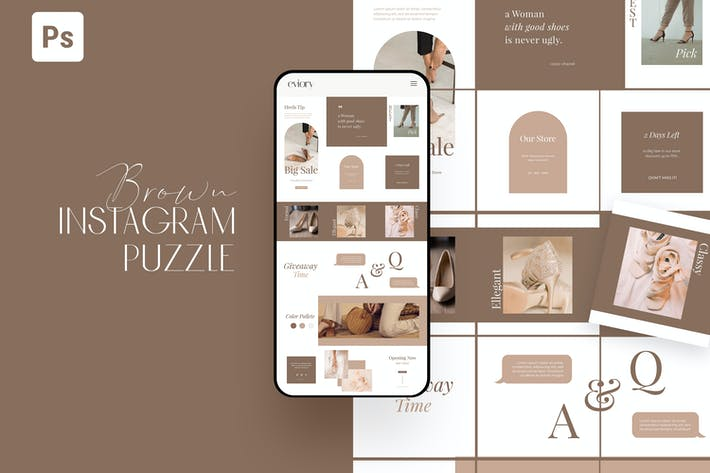 Thumbnail for Brown Minimalist Instagram Puzzle