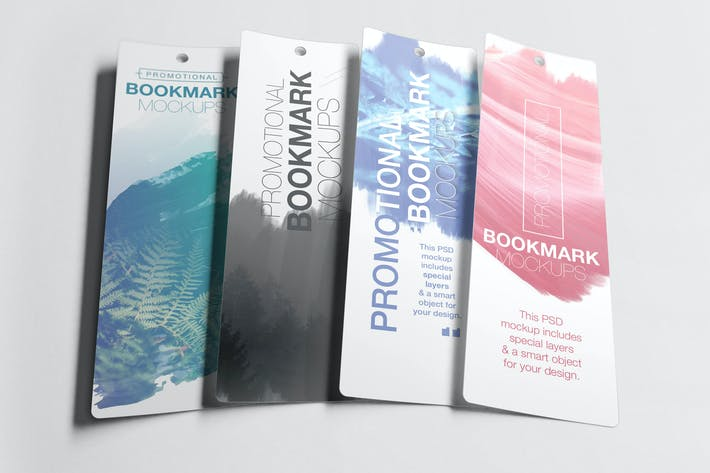 Thumbnail for Promotional Bookmark Mockup