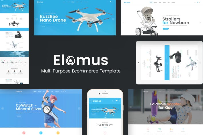 Cover Image For Elomus - Single Product Prestashop Theme