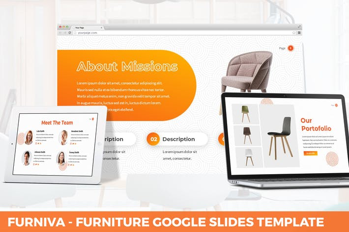 Thumbnail for Furniva - Furniture Google Slides Template