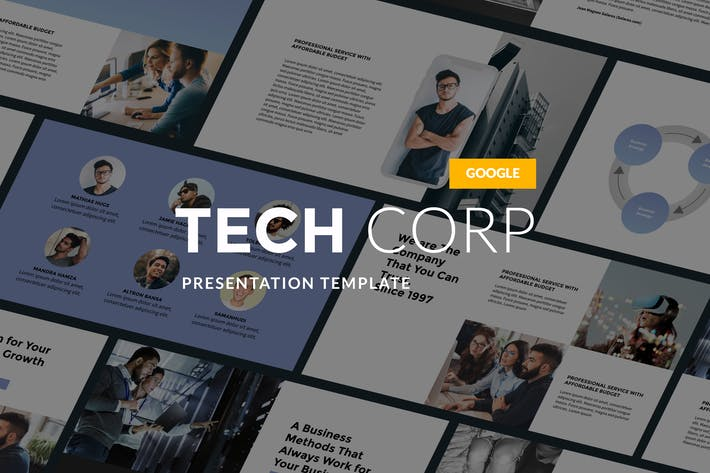 Thumbnail for Tech Corp - Modern Google Slides Template