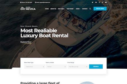 Nevica - Luxury Boats Rental HTML