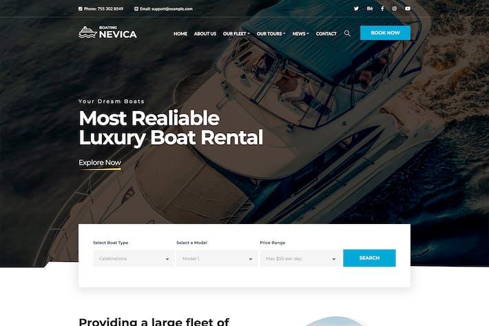 Thumbnail for Nevica - Luxury Boats Rental HTML