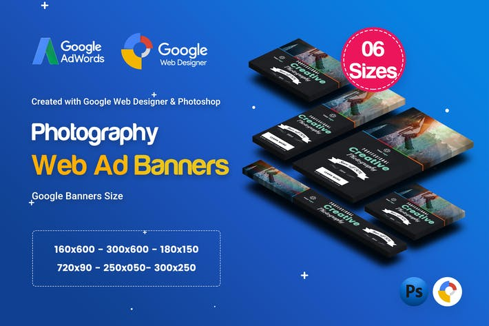 Thumbnail for C27 - Photography Banners HTML5 - GWD & PSD