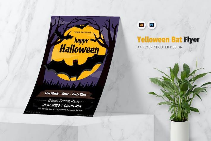 Yelloween Bat Flyer