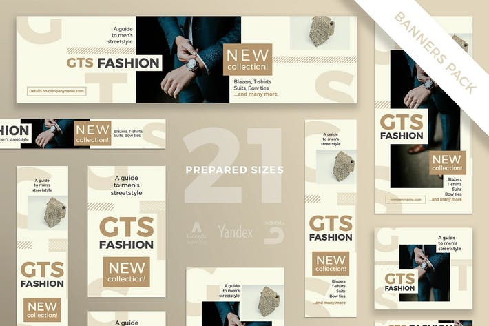 Cover Image For Fashion Clothes Banner Pack Template