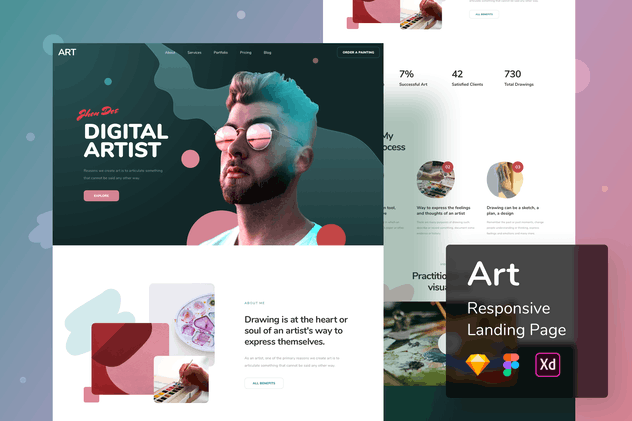 Art Responsive Landing Page