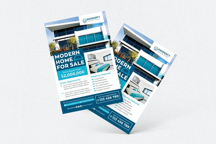 Thumbnail for Modern Home For Sale Flyer #02