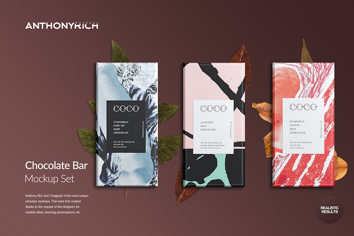 Thumbnail for Chocolate Bar Mockup