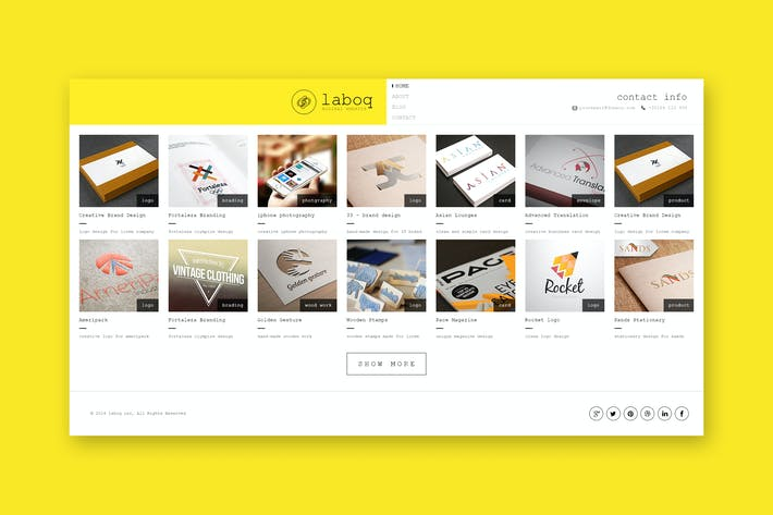 Thumbnail for Laboq - Minimal Creative PSD Template