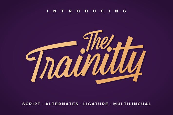 Thumbnail for Trainitty Vintage Script