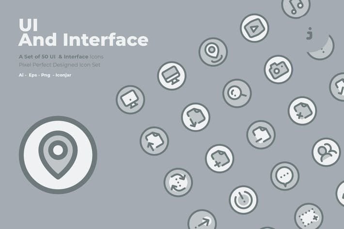 Thumbnail for 50 UI And Interface Icons  -  Two Tone Style