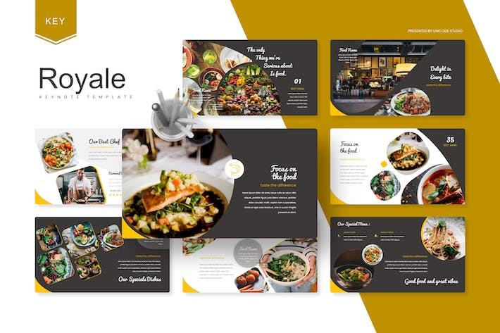 Thumbnail for Royale - Food  Keynote Template