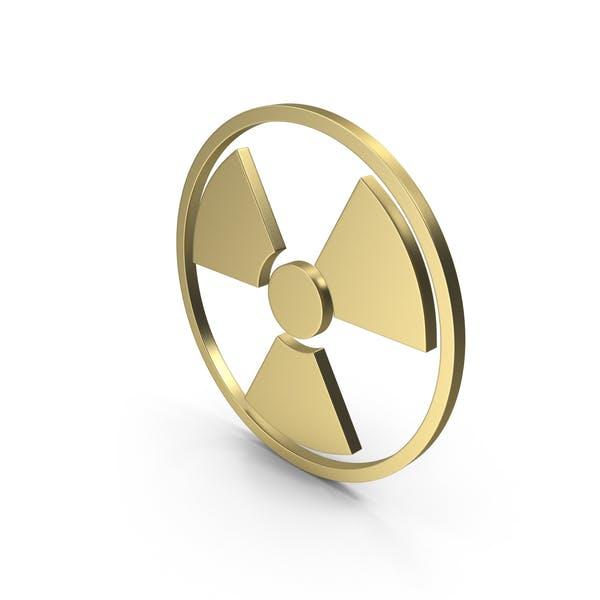 Strahlungszeichen Gold