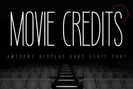 Movie Credits Entertainment Font